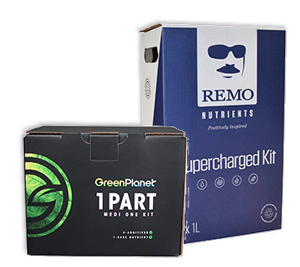 Complete nutrient kits go from grow to bloom with these nutrient kits by Remo nutrients, Green Planet, Diablo Professional Starter Kit, Cyco Pro Kit Sugar Rush and more