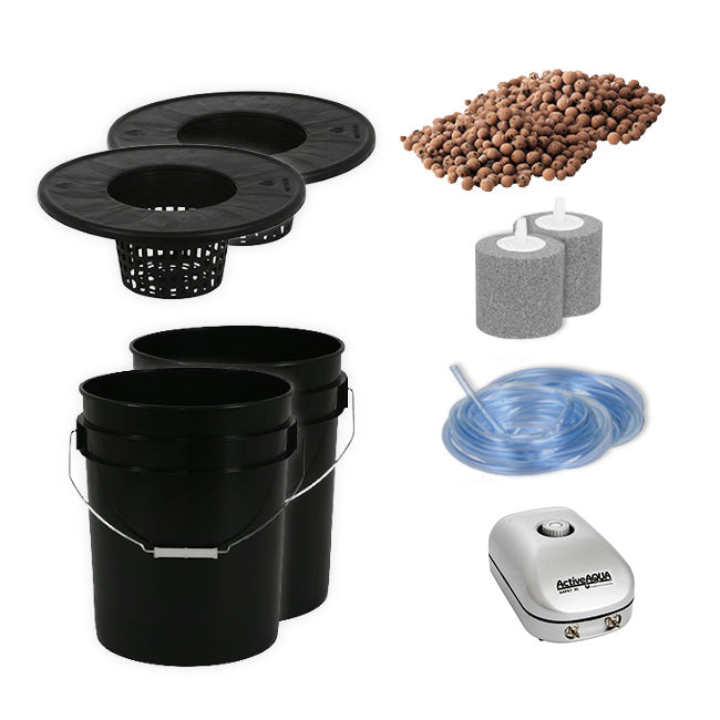 2 Plant Deep Water Culture Hydroponics Kit