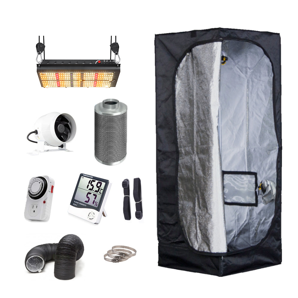2' x 2' premium grow tent kit in-stock and ready to ship today all grow tent kits ship free within Canada