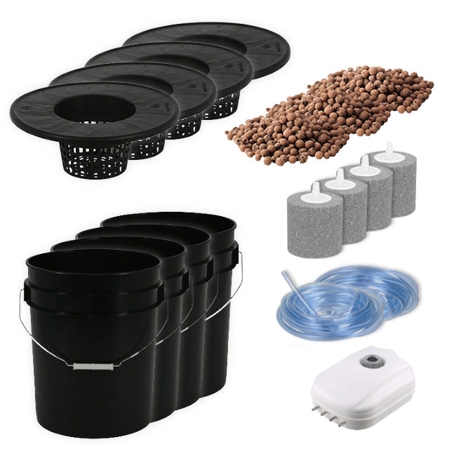 4 Plant Deep Water Culture Hydroponics Kit