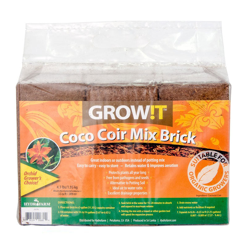 GROW!T Coco Coir 3 x 9L Bricks