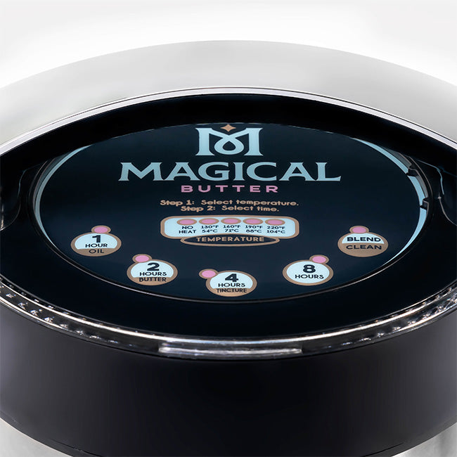 The MagicalButter® MB2e Botanical Extractor - Ultimate Edible-Making Machine thermostat sensors settings closeup