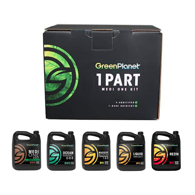Green Planet Nutrients 1-Part Medi One Kit Green Planet Nutrients Medi One Green Planet Nutrients Ocean Magic Green Planet Nutrients Massive Bloom Green Planet Nutrients Liquid Weight Green Planet Nutrients Rezin