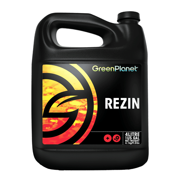 Green Planet Nutrients Rezin is our flowering additive formulated to enhance the natural processes within flowering plants that produce flavour and aroma. This results in high-quality flowers come time for harvest. - 4 litre