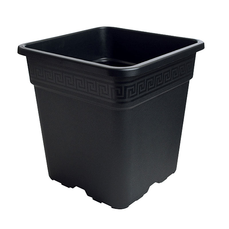 Premium Black Square Pot - 3 Gallon (11L)