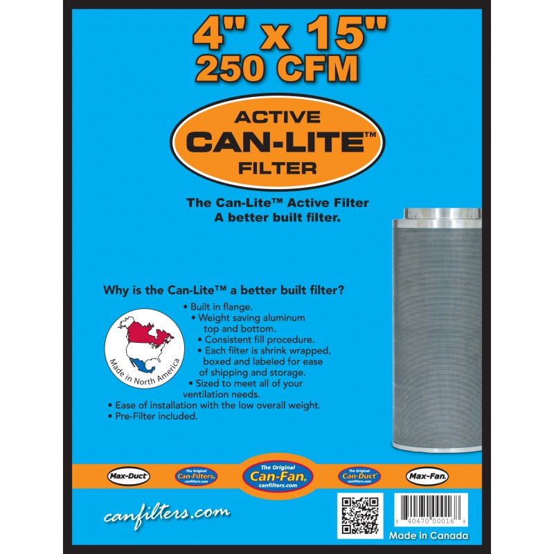 "Can-Fan Can-Lite Carbon Filters - 4"", 6"", 8"""