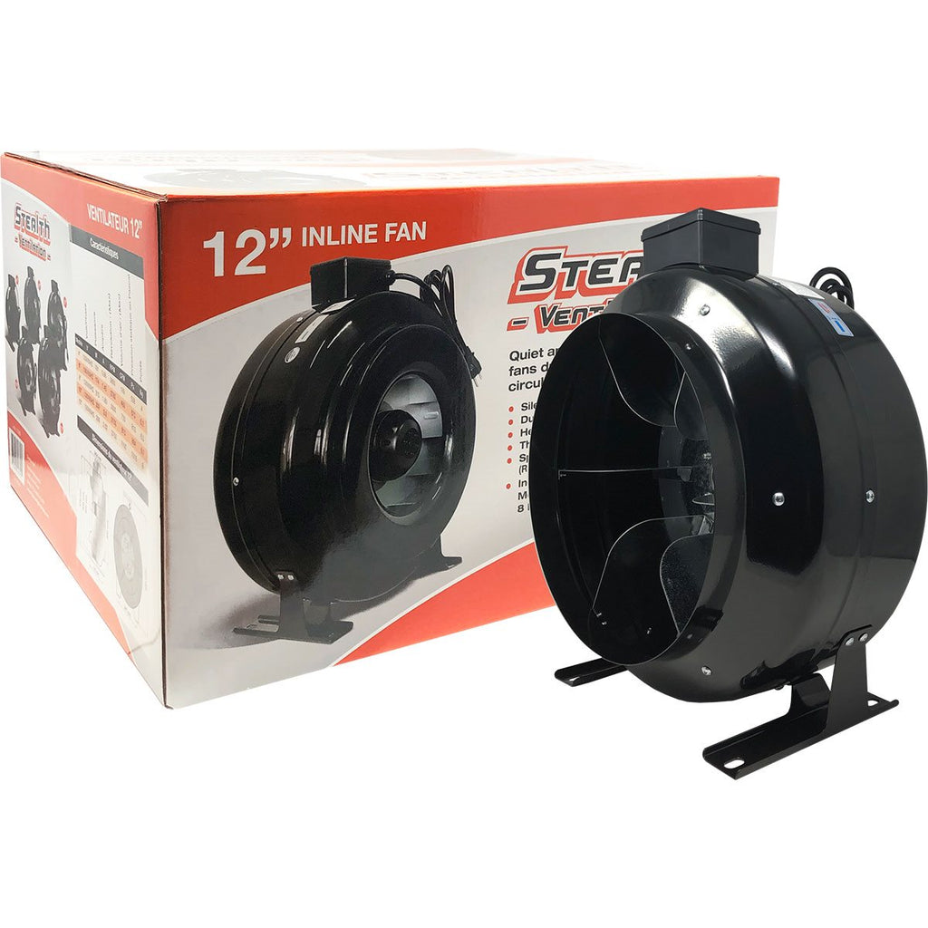"Stealth Ventilation In-line Fan 120V 12"" 1100CFM"