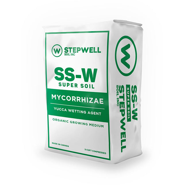 Stepwell SS-W Super Soil Mycorrhizae yucca wetting agent cannabis growing medium organic growing medium 3CUFT compressed