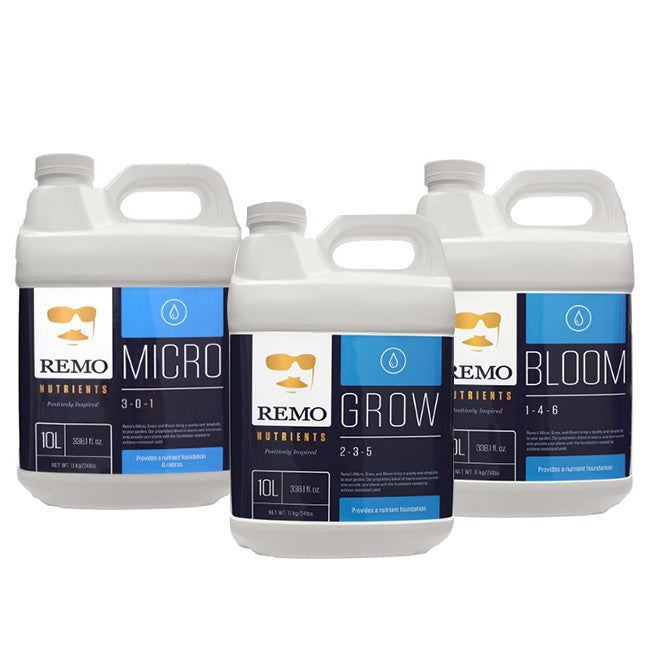 Remo Nutrients 10 Litre Trio - Micro, Grow, Bloom