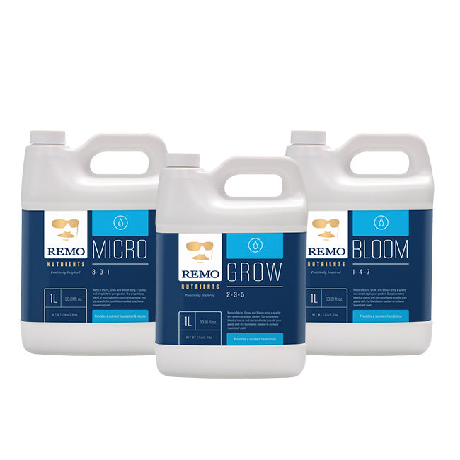 Remo Nutrients 1 Litre Trio - Micro, Grow, Bloom