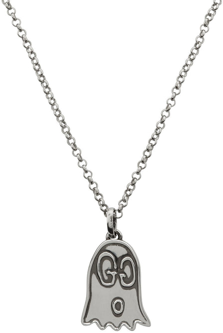 Gucci Silver 'Gucci Ghost' Necklace