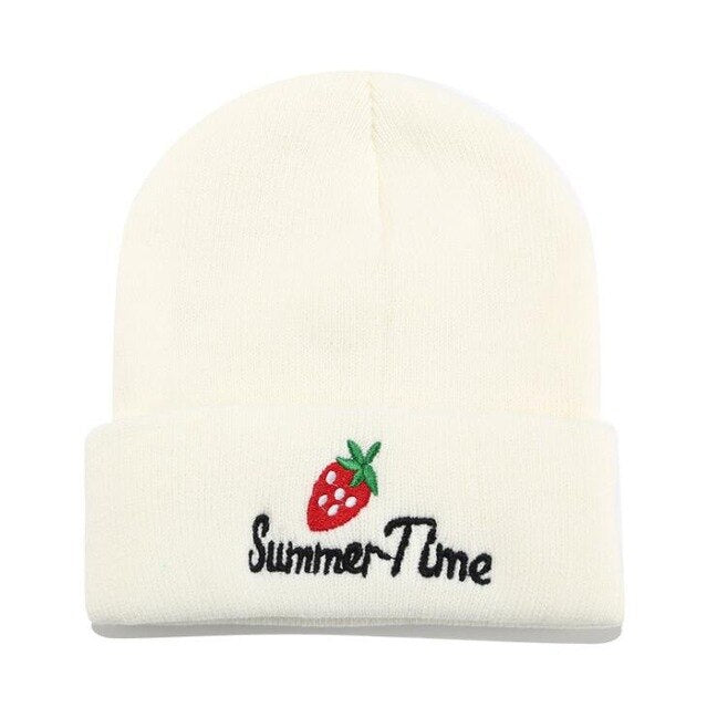 d2127f018 2019 Winter Hats for Woman New Beanies Knitted strawberry Hat Girls ...
