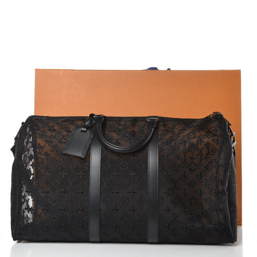 Louis Vuitton Monogram See Through Keepall Bandouliere 50