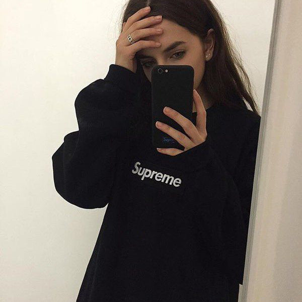 Supreme Black Box Crewneck Sweatshirt