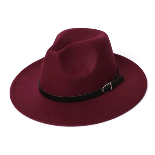 Fedora Hat Men Women Imitation Woolen Winter Women Felt Hats Men Fashion Black Top Jazz Hat Fedoras Chapeau Sombrero Mujer 2019
