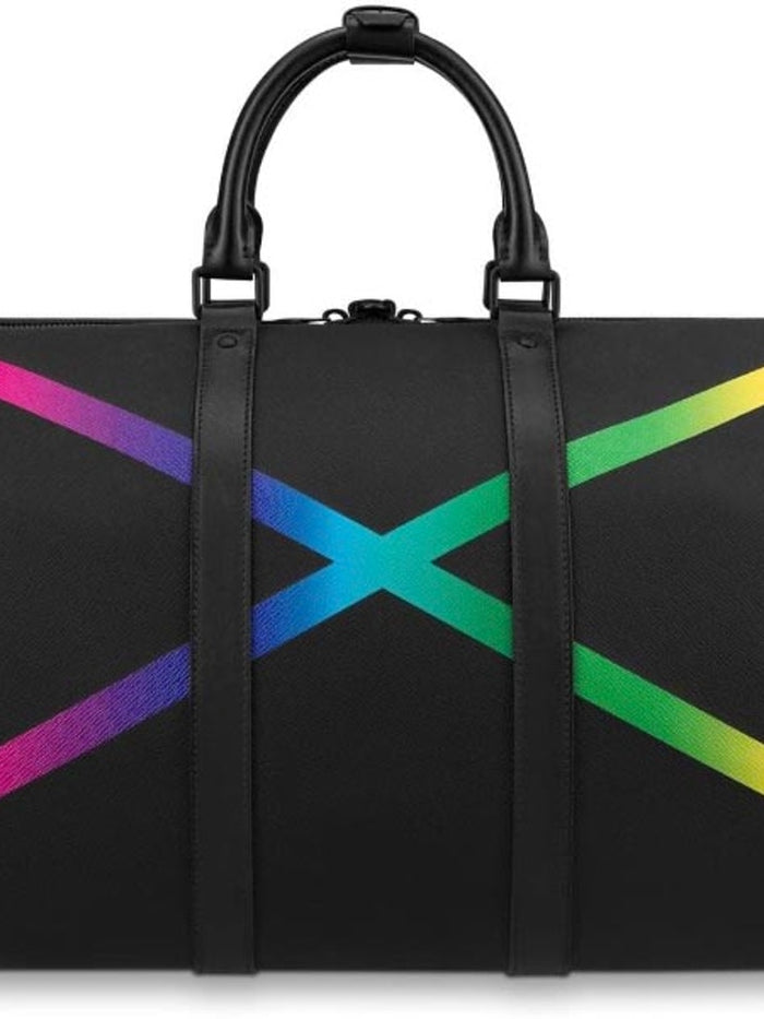 Louis Vuitton Keepall  Travel Bag Taiga Rainbow Bandouliere