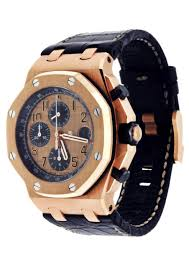Audemars Piguet Royal Oak Offshore Rose Gold Black Strap