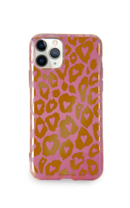 Pink Leopard print Bronze Case - thefonecasecompany