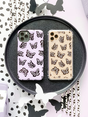 COW PRINT BUTTERFLY CLEAR CASE - thefonecasecompany