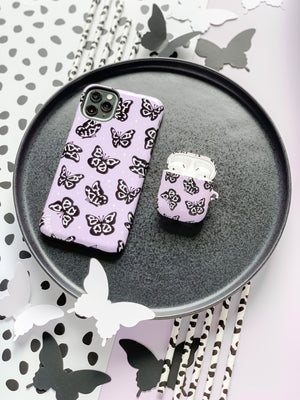 Cow Print Butterfly AirPods Case - thefonecasecompany