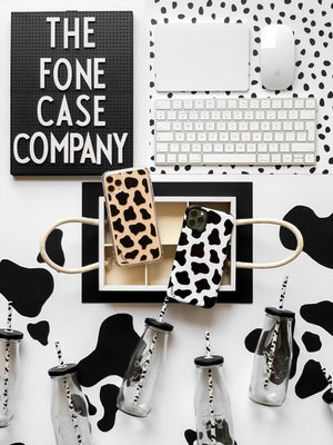 COW PRINT CLEAR CASE - thefonecasecompany