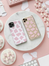 COW PRINT PINK CLEAR CASE - thefonecasecompany
