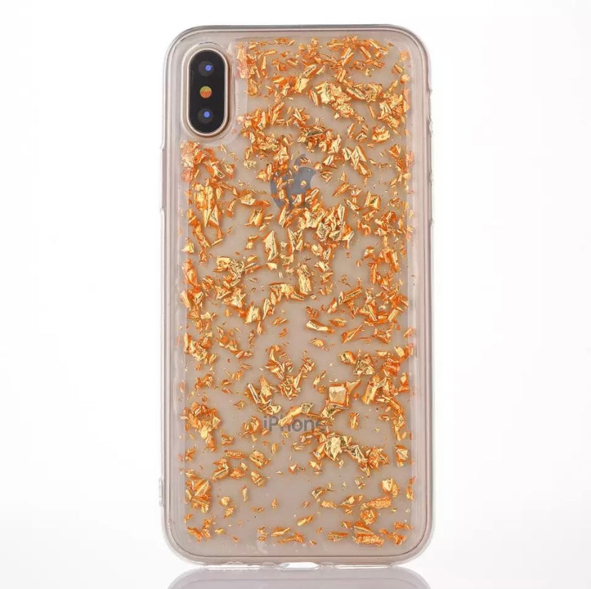 Gold Flakes Case - thefonecasecompany