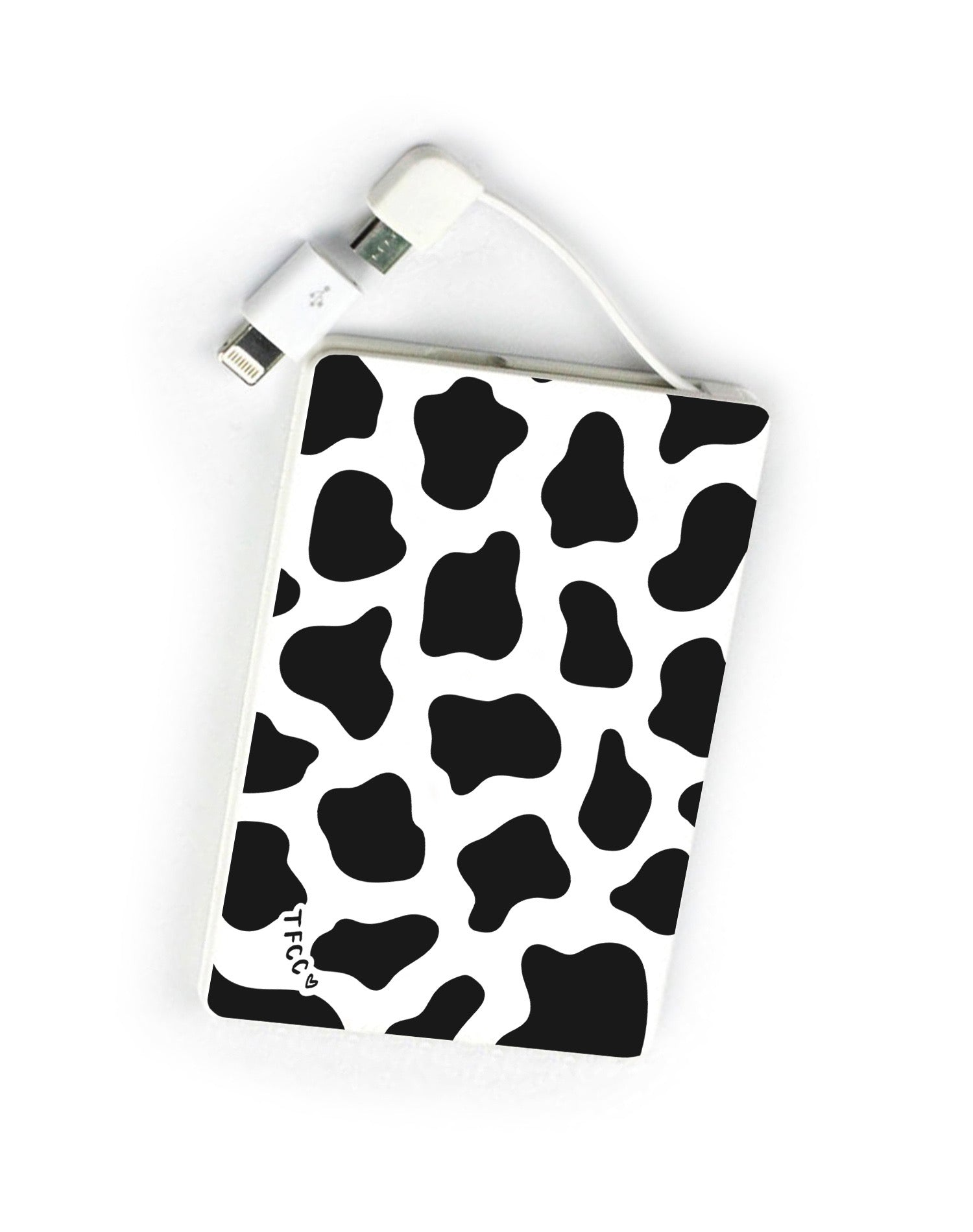 Cow Print Black Power Bank - thefonecasecompany