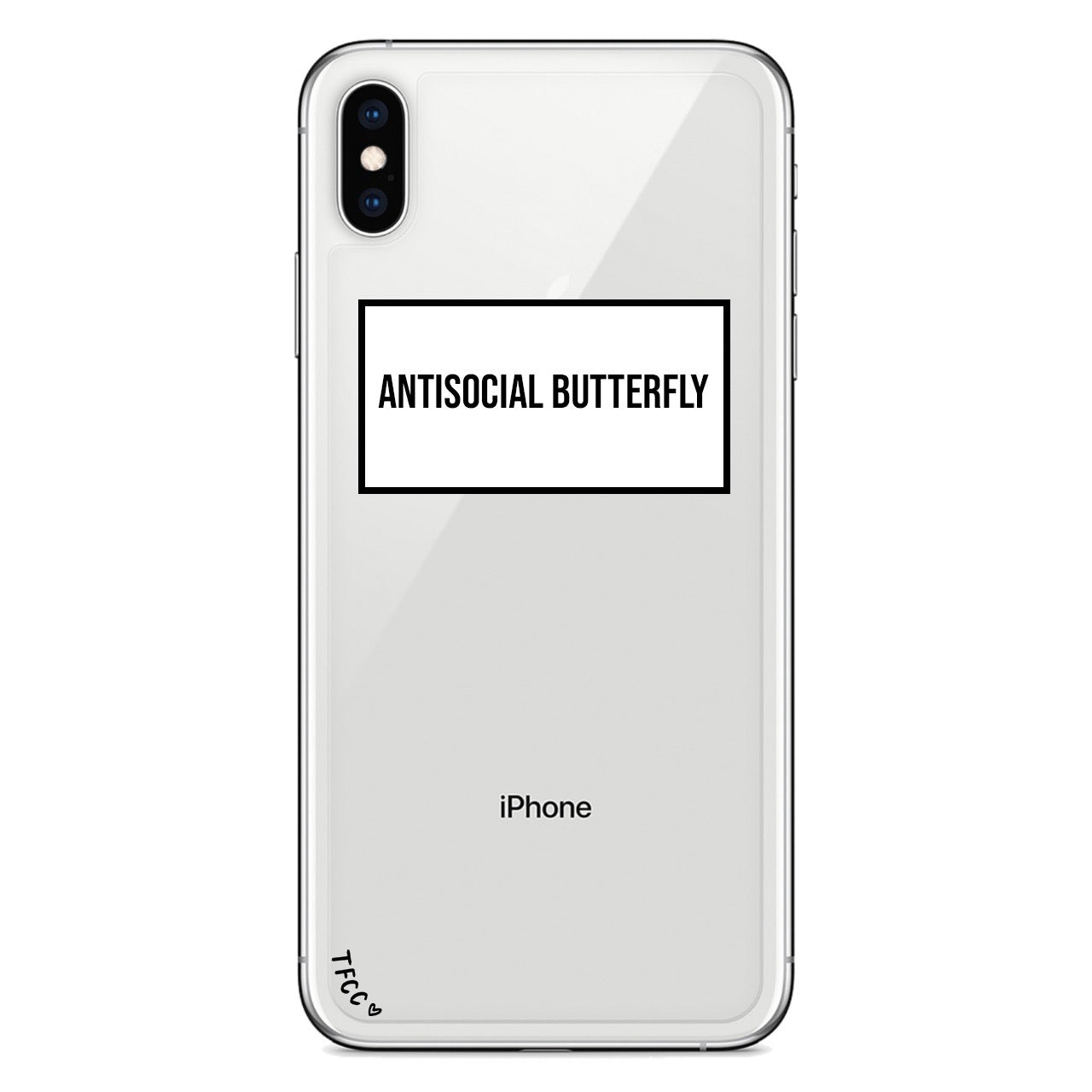 ANTISOCIAL BUTTERFLY SLOGAN CASE - thefonecasecompany