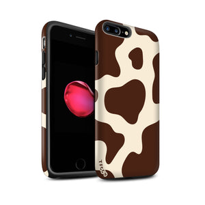 BROWN AND NUDE COW PRINT CASE - thefonecasecompany