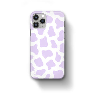 COW PRINT LILAC CASE - thefonecasecompany