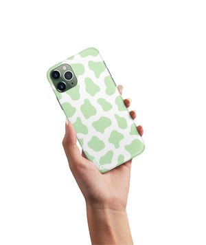 COW PRINT GREEN CASE - thefonecasecompany