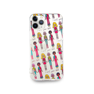 AIN'T YOUR DOLL CLEAR CASE - thefonecasecompany