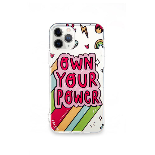 OWN YOUR POWER CLEAR CASE - thefonecasecompany