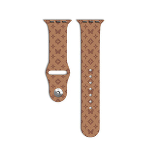 Mono Butterfly Brown Apple Watch Strap - thefonecasecompany