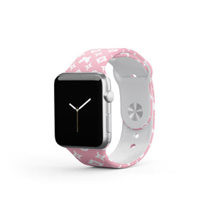 Mono Butterfly Pink Apple Watch Strap - thefonecasecompany