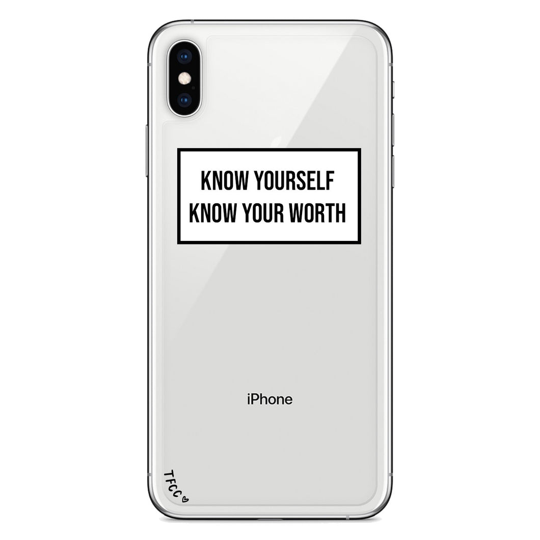 KNOW YOURSELF SLOGAN CASE - thefonecasecompany