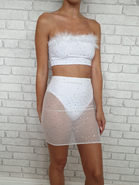 White Disco Mesh Set