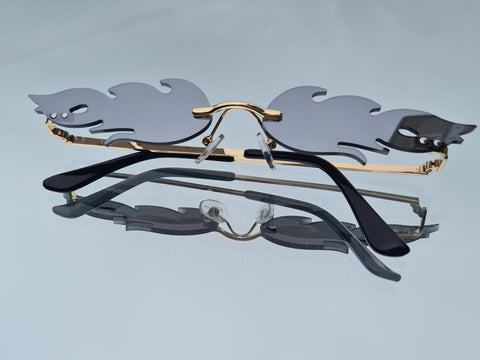 Silver Flame Sunglasses