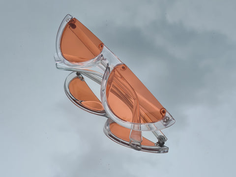 Orange Half Frame Sunglasses