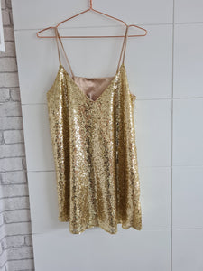 Pre Loved Gold Sequin Dress