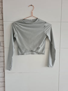 Silver Long Sleeve Top