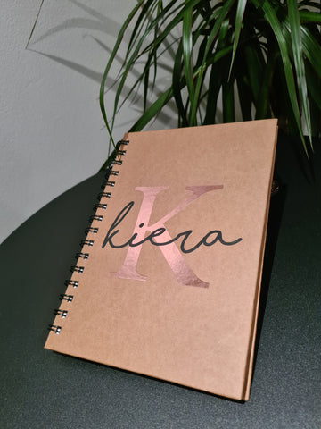 Personalised Initial Notebook