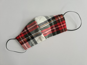 Red and White Tartan Mask