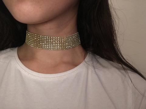 Gold Small Gem Chokers