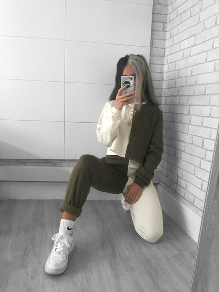 Cream/Khaki Jumper