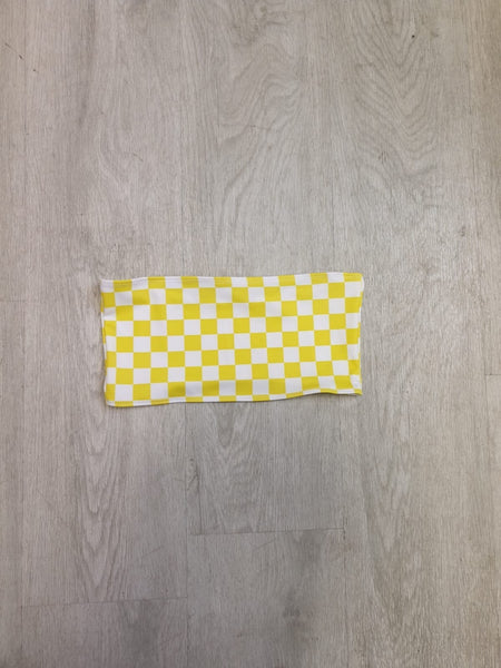 Yellow Checkerboard Bandeau