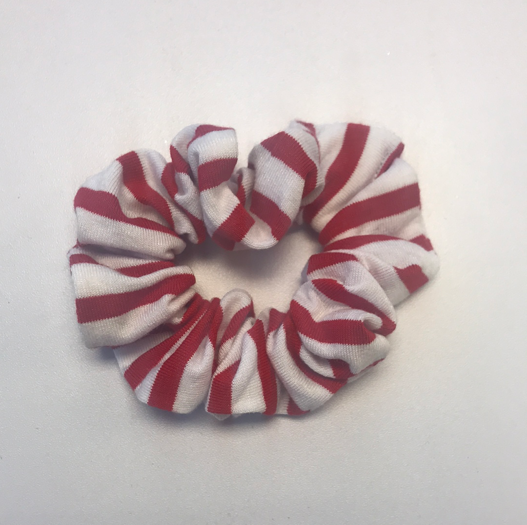 RTS Red Stripe Scrunchie