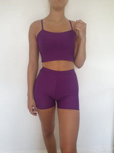 Purple Strap Top