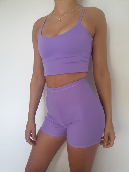 Lilac Strap Top